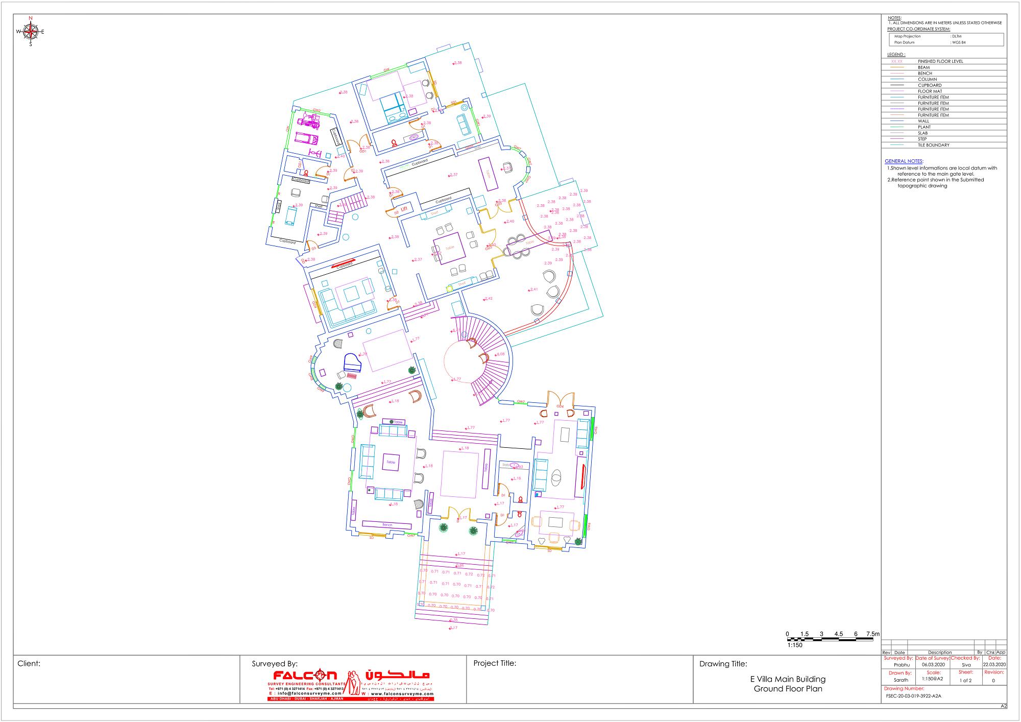 Ground Floor Plan of the Villa